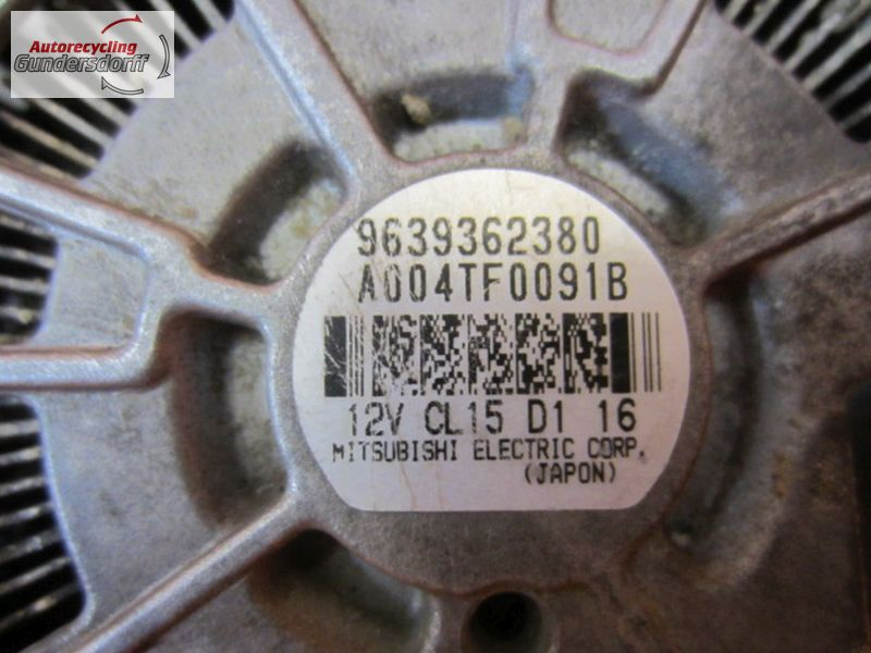 Lichtmaschine 9639362380   A004TF0091B   150ACITROEN BERLINGO (MF) 2.0 HDI 90