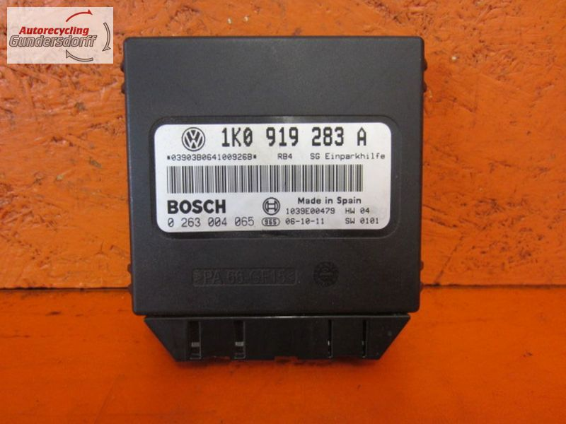 Steuergerät Einparkhilfe 1K0919283A   0263004065VW GOLF V (1K1) 1.9 TDI